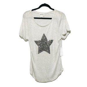 Rock & Republic Sequin Star T Shirt NWT